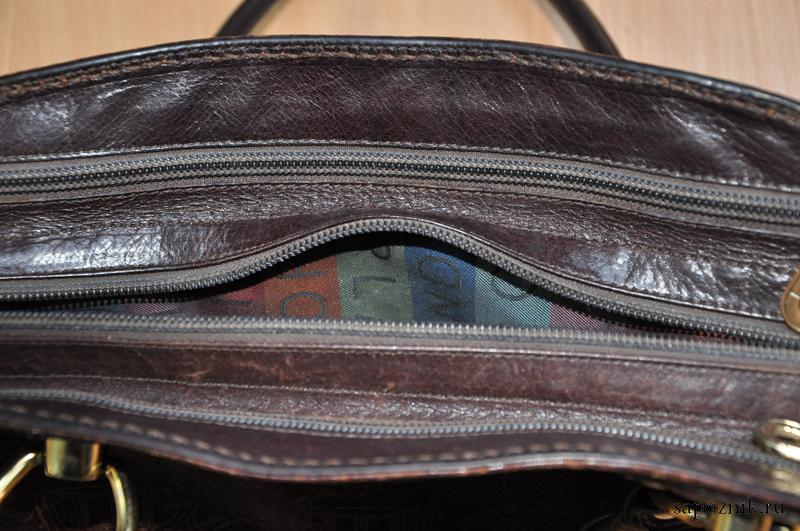fc9f88c3fd2e Молния на кожаной сумке до ее замены
